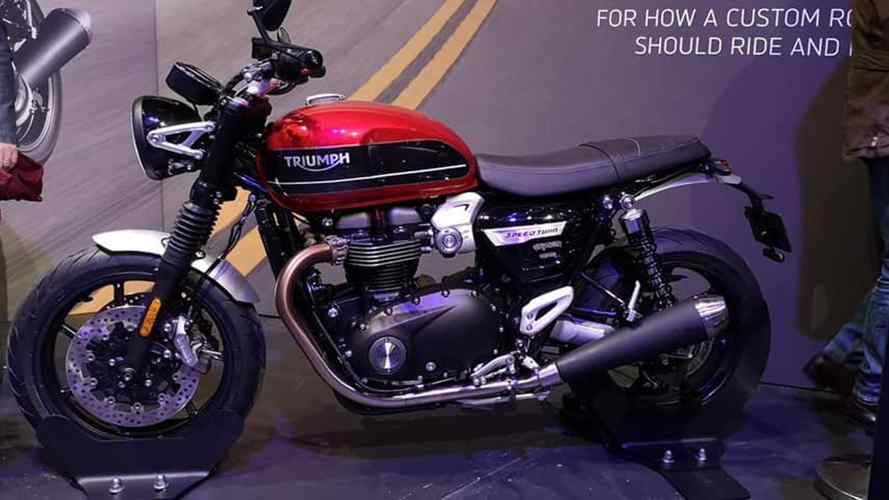 Triumph Speed Twin Images Leaked From Annual Dealer Meeting