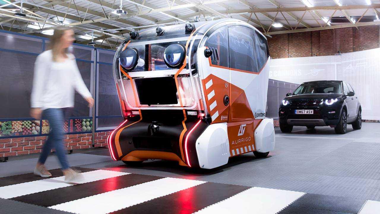Jaguar Land Rover's big-eyed self-driving pod seeks our trust