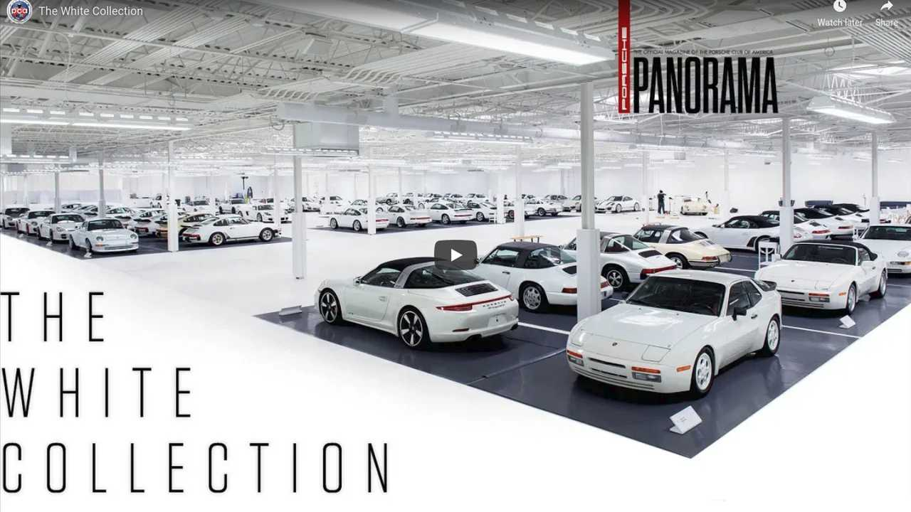 Porsche white collection screenshot