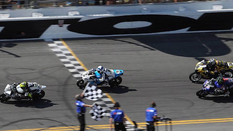 The last 8 laps of the Daytona 200