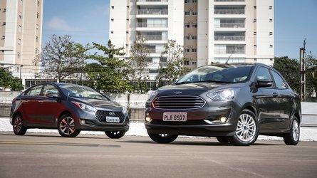 Comparativo: Ford Ka Sedan Titanium x Hyundai HB20S Premium -  Briga de famílias