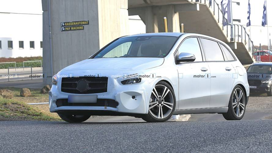 2019 Mercedes B-Class spotted up close inside and out