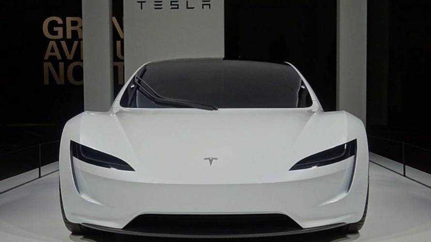 Tesla Roadster Makes European Debut At Grand Basel