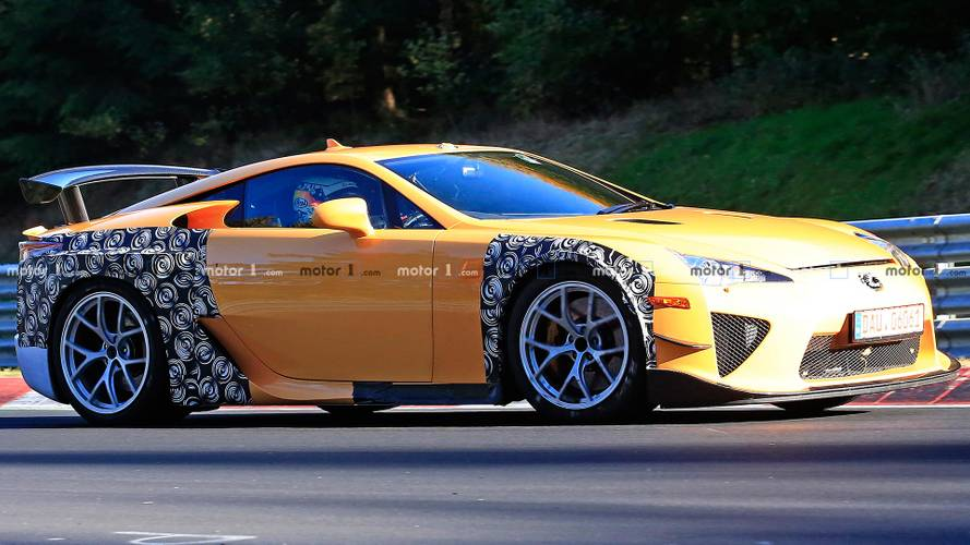 Mysterious Lexus LFA Widebody Test Mule Spied Lapping The 'Ring [UPDATE]