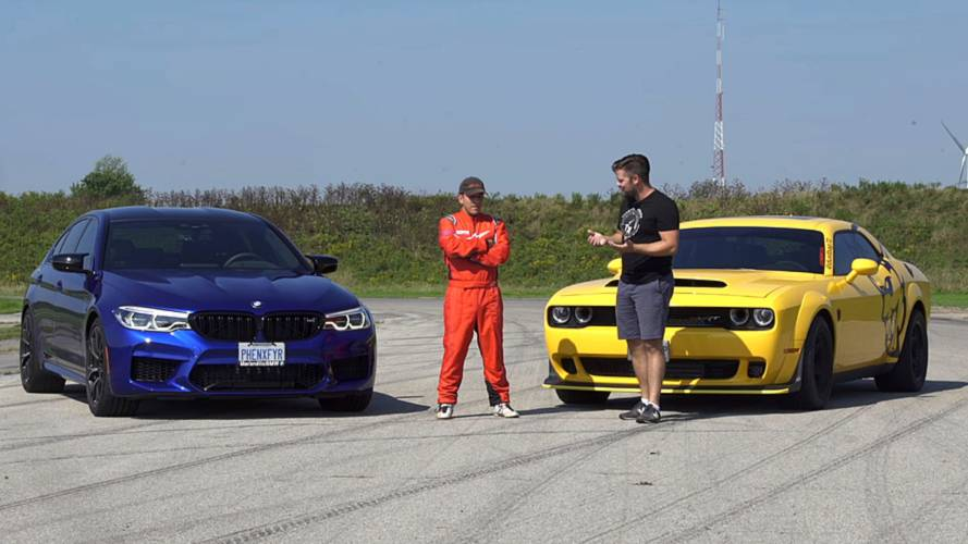 Dodge Demon Meets BMW M5 Competition For A Series Of Challenges