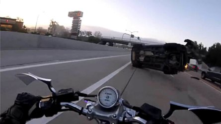 Watch This Rider get Plastered by a Flying SUV