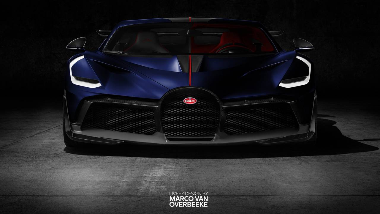 Bugatti Divo giydirme render'ları