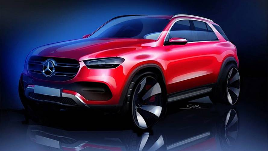 2019 Mercedes GLE teased with revealing exterior design sketch