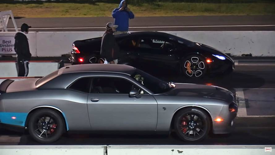 Kid's Epic Reaction To Hellcat Vs. Huracan Drag Race Is Hilarious
