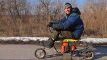 homemade chainsaw scooter beat honda