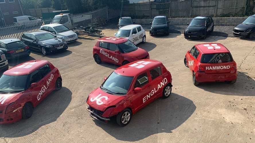 Nine Suzuki Swifts from Top Gear's car football sell for a reasonable price