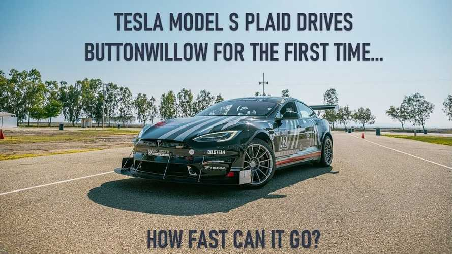 Tesla Model S Plaid Sets EV Record At Buttonwillow