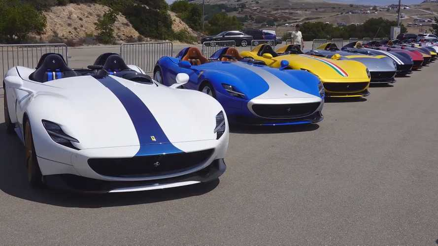 Ferrari Monza SP1 and SP2 parade gathers more than 30 speedsters