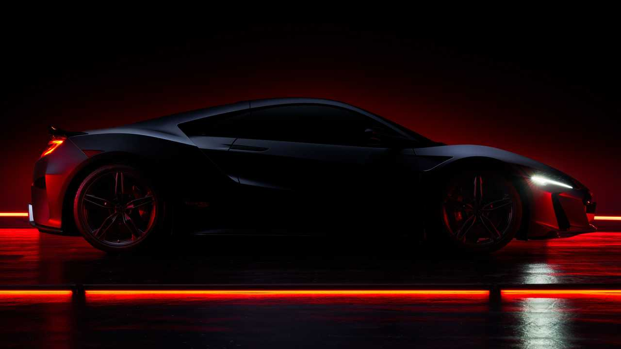 Teaser photo for the 2022 Acura NSX Type S.