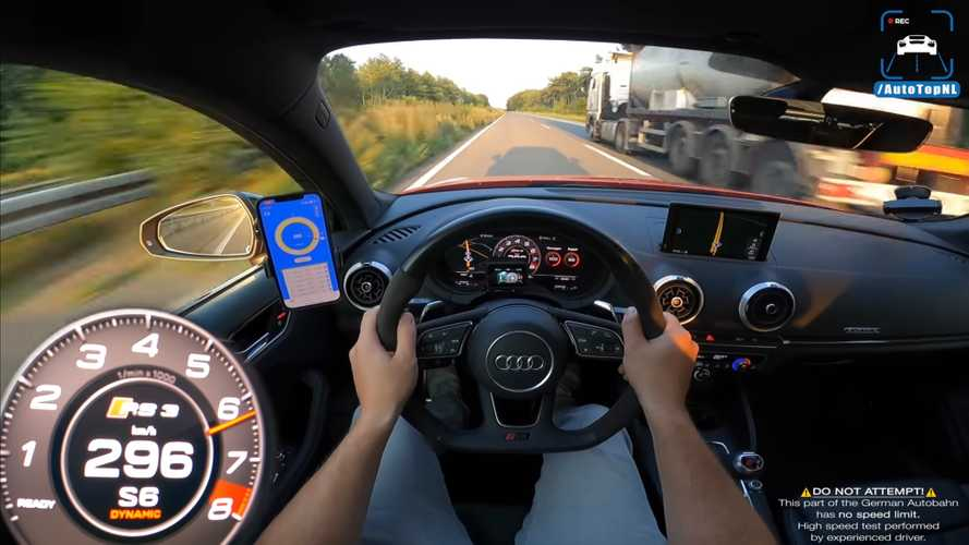 Tuned Audi RS3 makes short work of Autobahn in top speed run