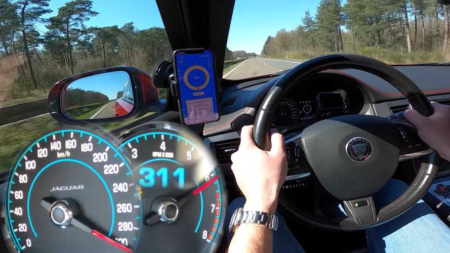 Jaguar XFR-S hits 187 mph in autobahn top speed run