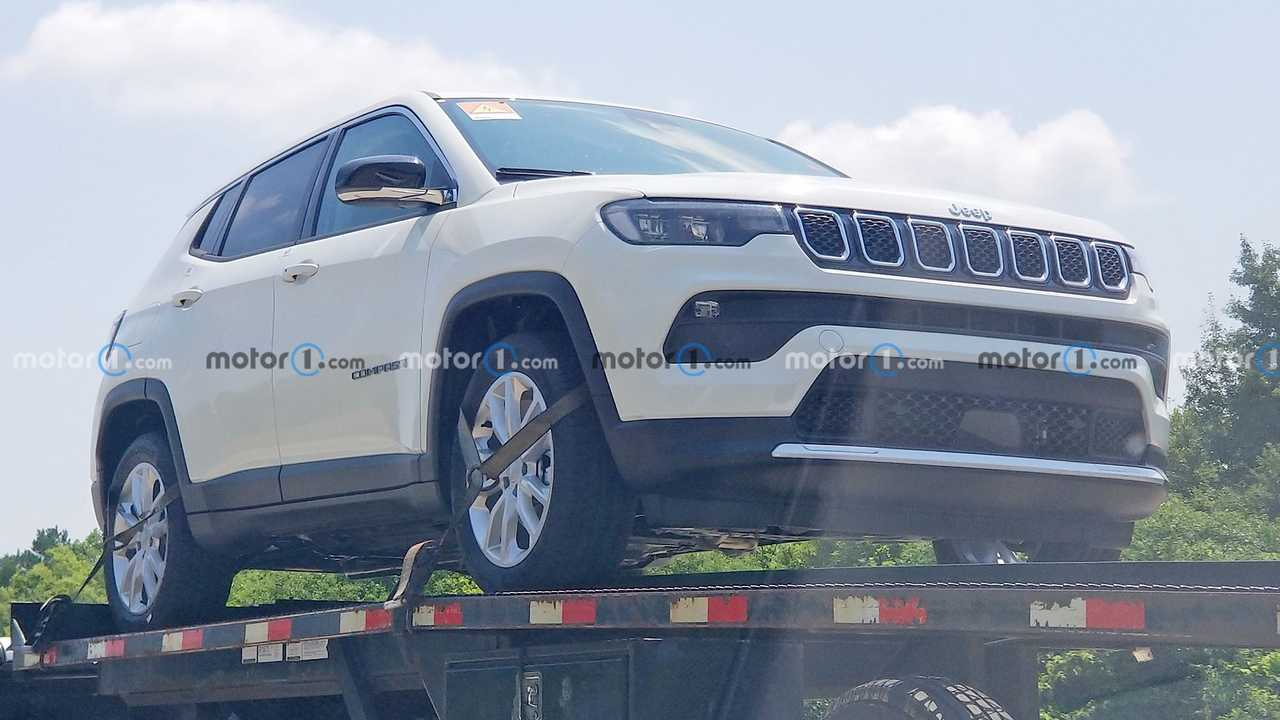 Jeep Compass Hybrid Front View Spy Photo