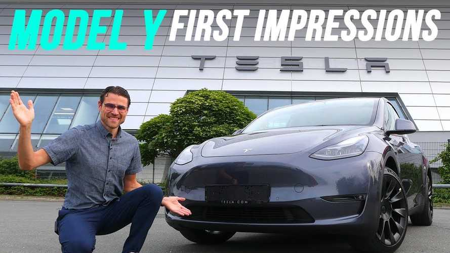 Check out one of the first Tesla Model Ys in Germany