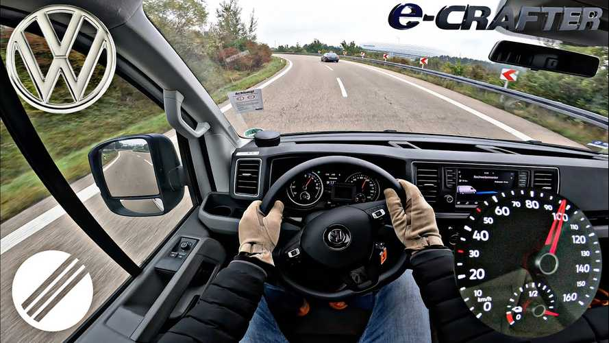 Watch VW E-Crafter visibly lose state of charge at top speed