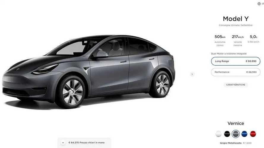 Tesla Model Y è in Italia: quanto costa e quali consegnano prima