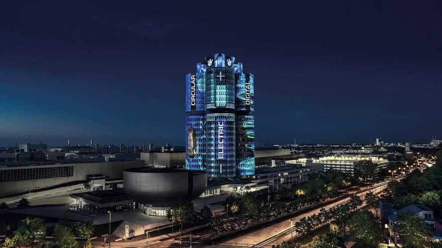 BMW Munich HQ lightshow
