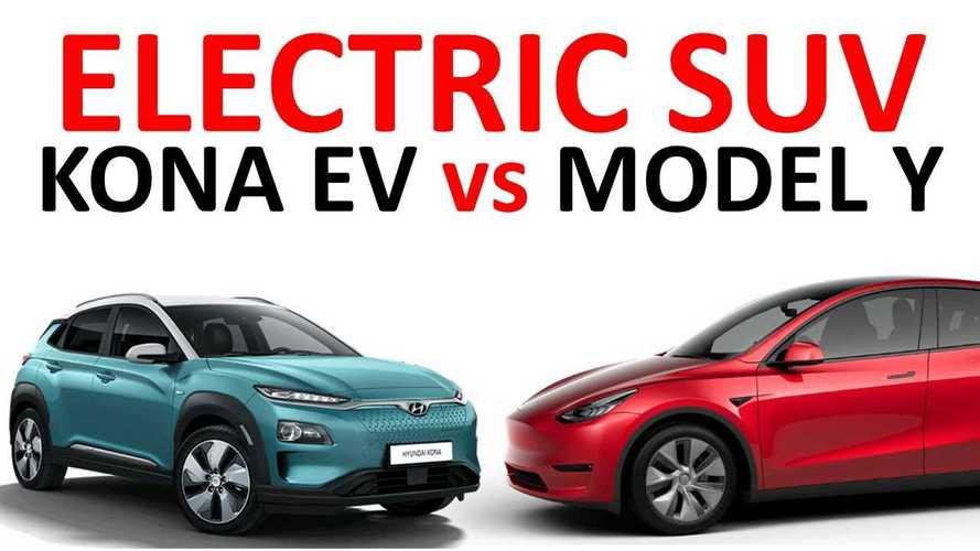 Which EV Crossover Is Better: Tesla Model Y Or Hyundai Kona EV?