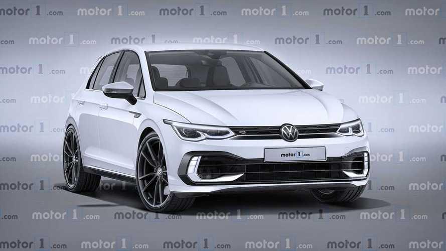 Volkswagen Golf R 2020, render del compacto deportivo