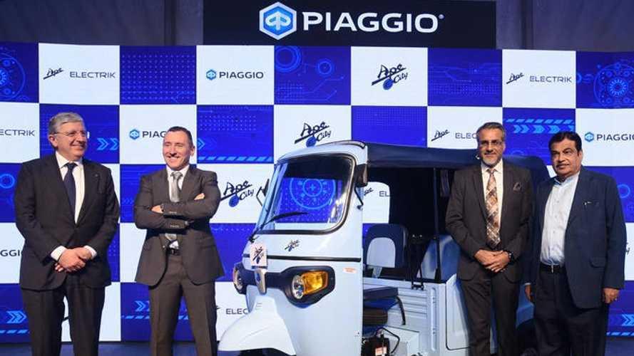 Piaggio E-City, l'Ape elettrica passeggeri alla conquista dell'India