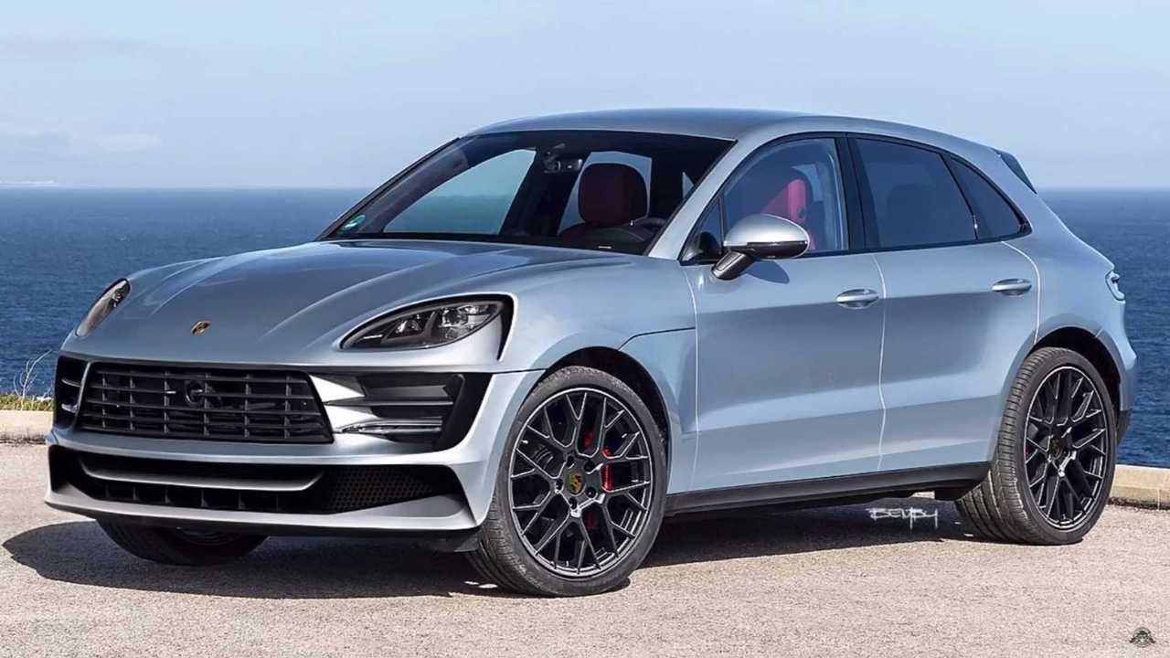 2021 Porsche Macan EV rendering