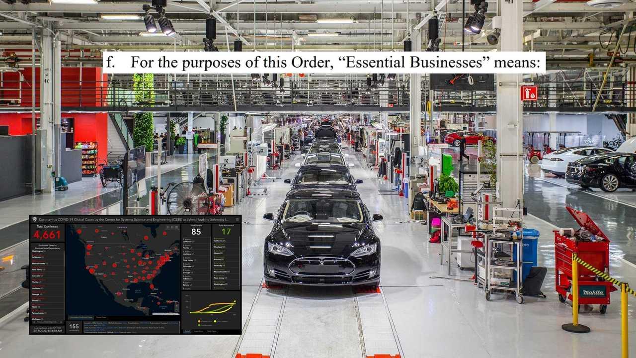 """Tesla Fremont Plant megszökik COVID-19 Lockdown, nyilvánított """"Essential"""""""