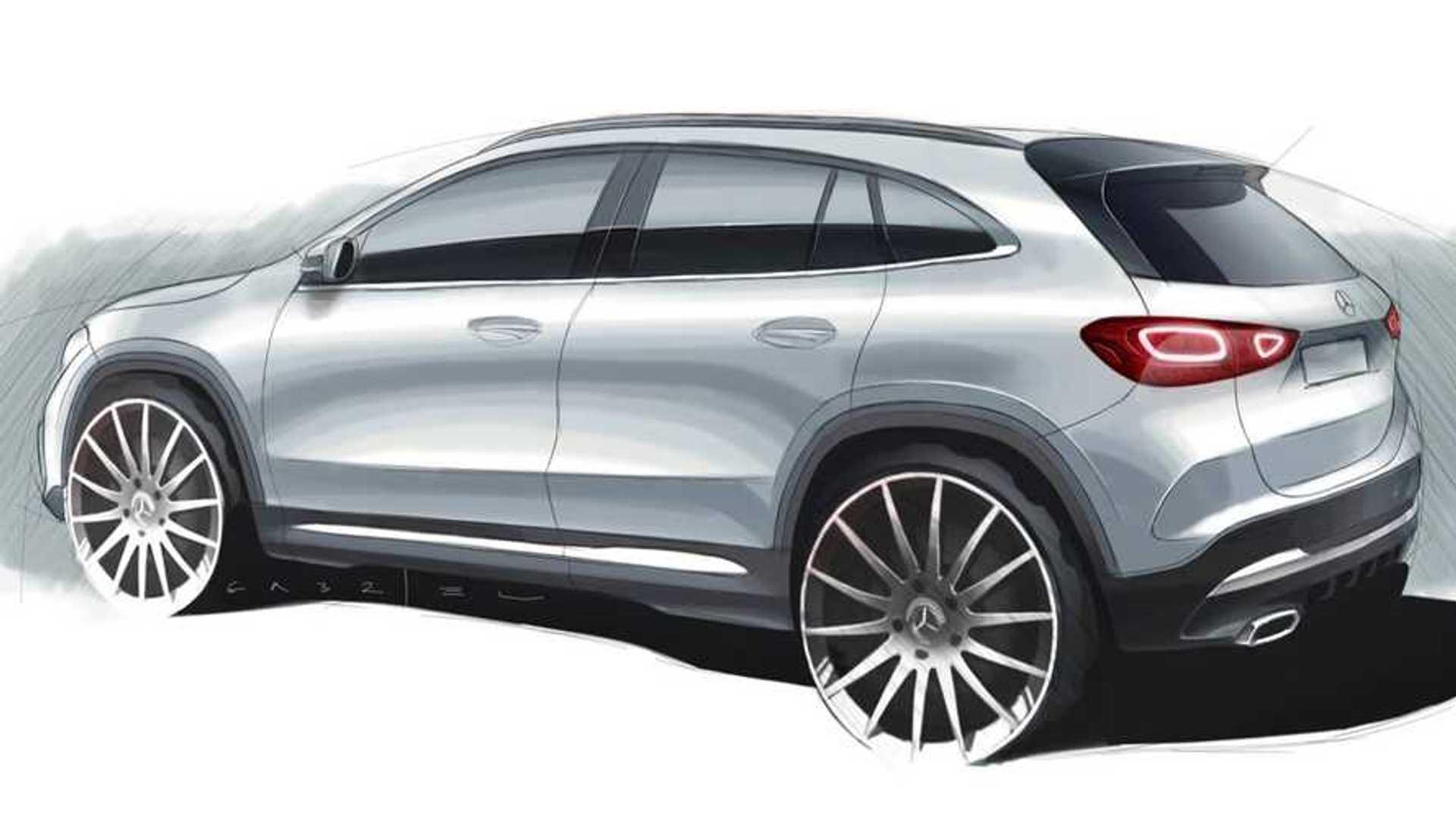 2021 Mercedes GLA Teased In Revealing Design Sketch