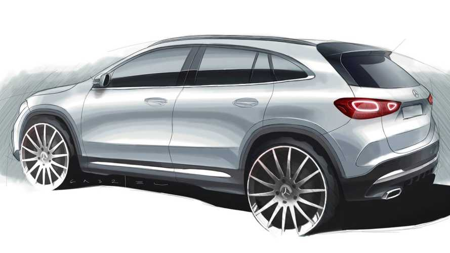 2021 Mercedes GLA Teased In Revealing Design Sketch