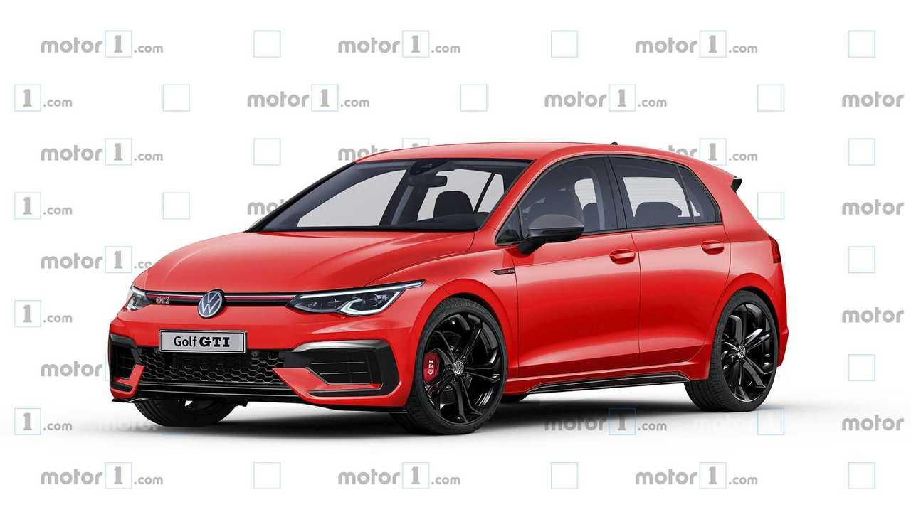 Volkswagen Golf GTI 2020, render de Motor1.com