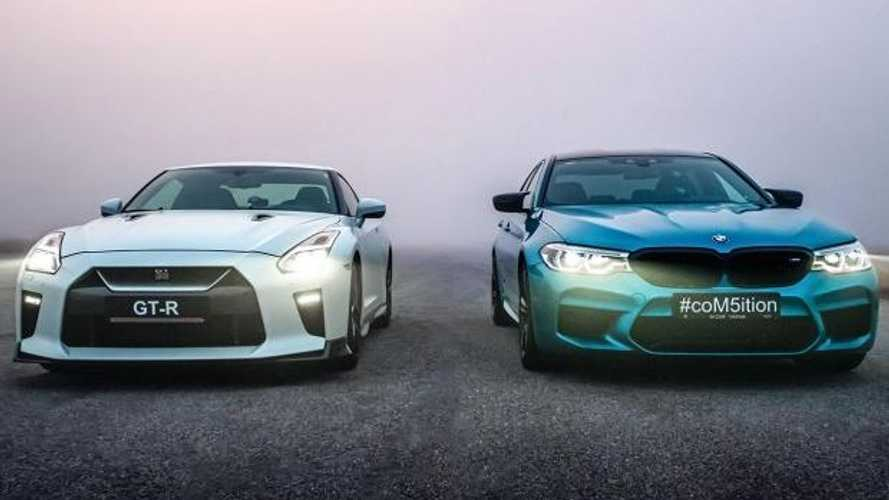 Nissan GT-R versus BMW M5 Competition drag race