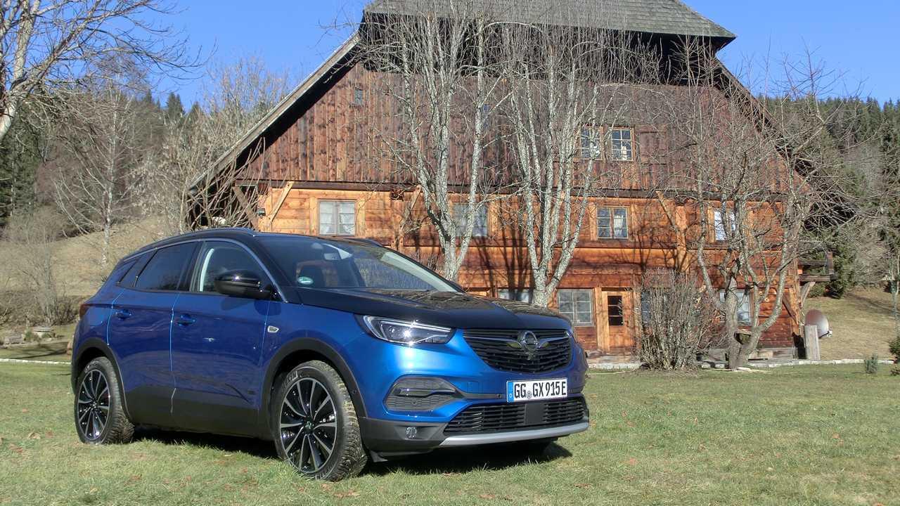Opel Grandland X Hybrid4 Ultimate (2020) in Topaz Blau