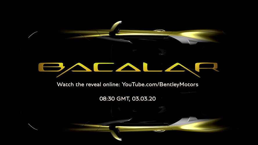 Bentley Mulliner Bacalar Debuts Today: See The Livestream Here