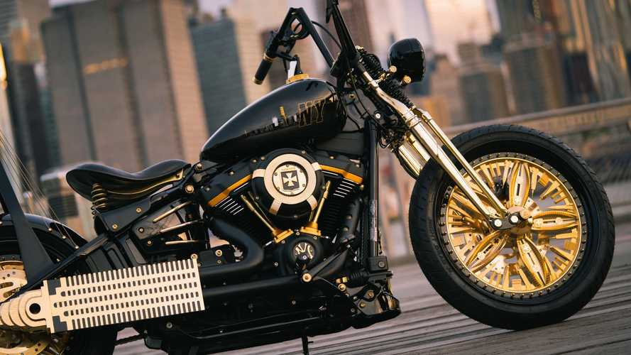 This Custom Harley Street Bob Is Literal Gold