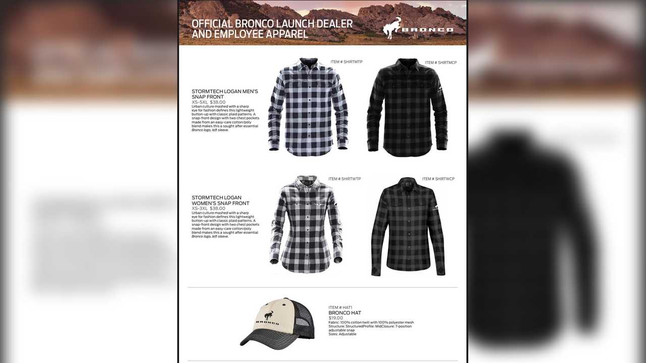2021 Ford Bronco Launch Apparel