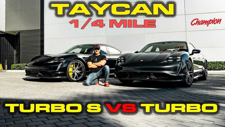 Gyorsulási verseny: Porsche Taycan Turbo vs Taycan Turbo S