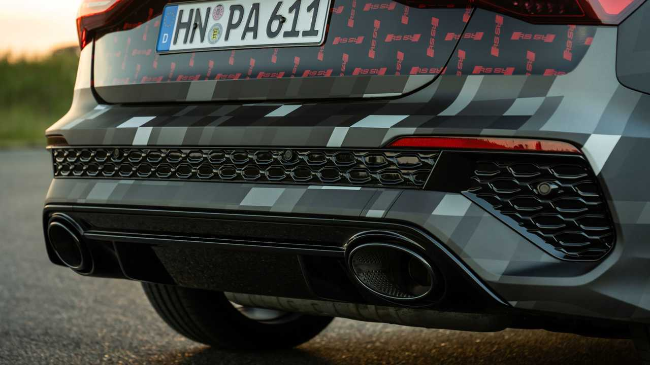 2022 Audi RS3 Sportback Rear Bumper Exhausts
