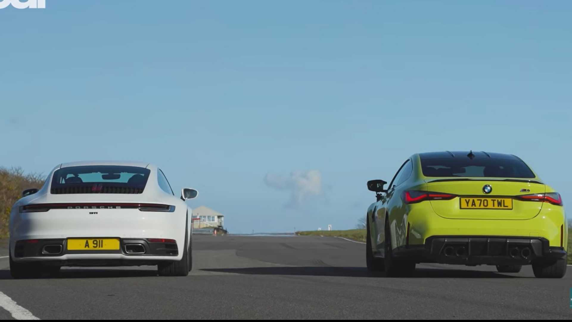 BMW M4 Competition vs Porsche 911 drag has two different winners
