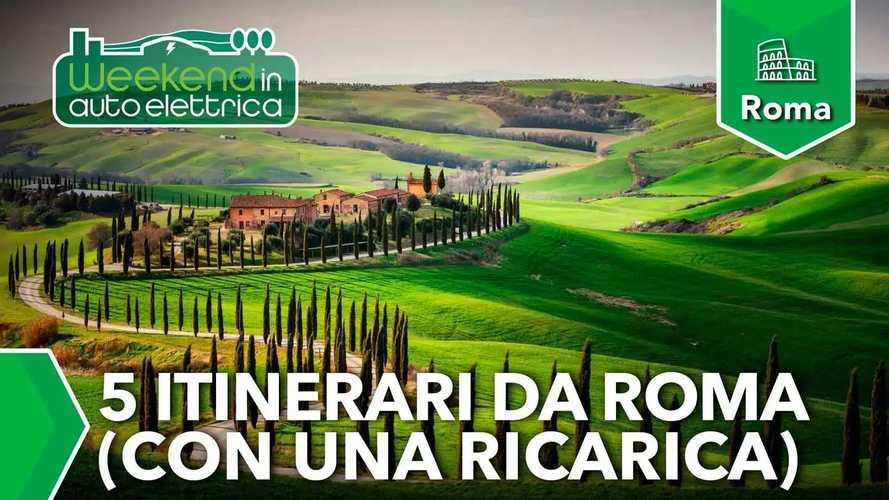 Weekend in auto elettrica: 5 itinerari da Roma con una ricarica