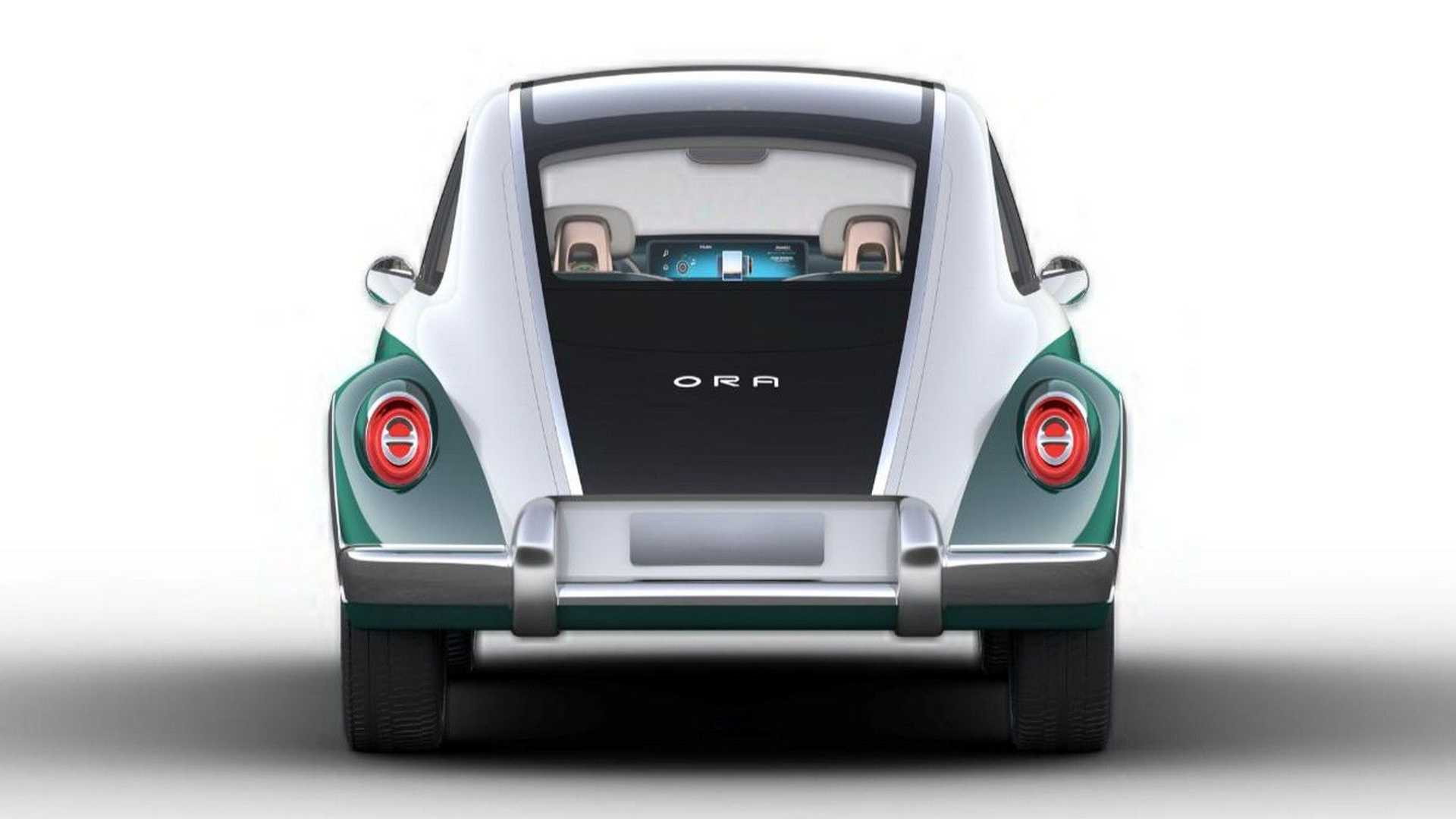 Ora Punk Cat - clone elétrico do VW Fusca - traseira