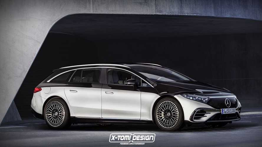 Mercedes-Benz EQS Reimagned As A Station Wagon