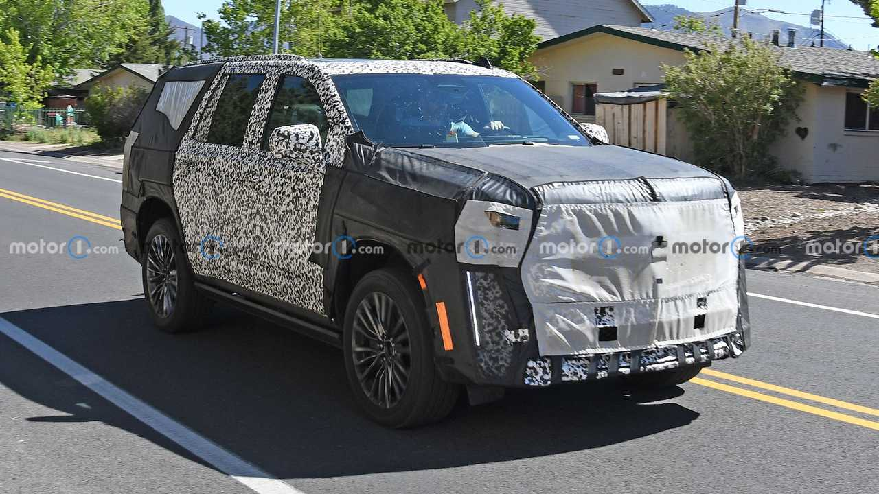 A close look at a test vehicle for the new Cadillac Escalade-V.