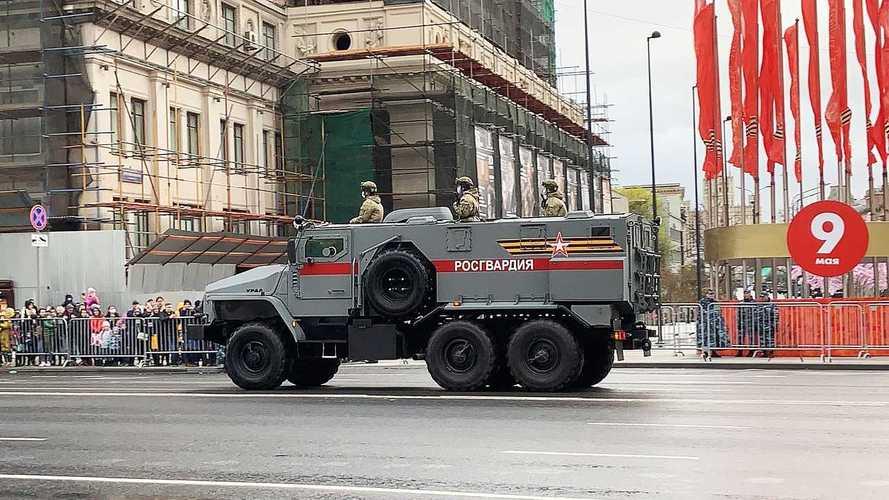 Probe der Parade zum Tag des Sieges in Moskau 2021