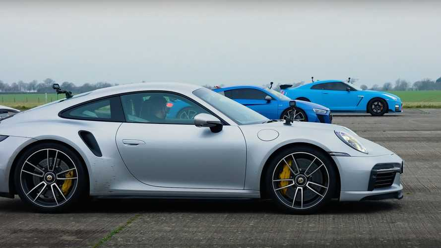 Watch Porsche 911 Turbo S Crush Both GT-R Nismo, Audi R8 In A Drag Race