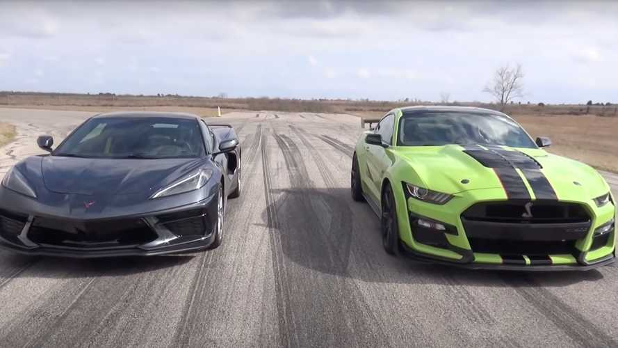 Shelby GT500 Drag Races Corvette C8 In YouTuber Vs Tuner Duel