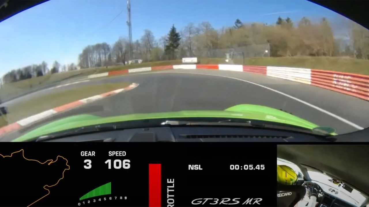 Porsche 911 GT3 RS a Nürburgringen