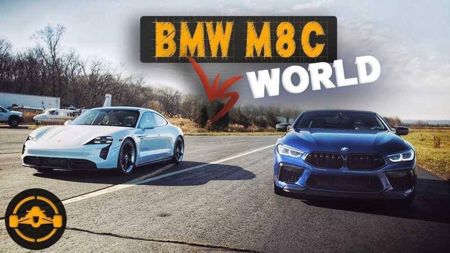 Porsche Taycan Turbo S Half-Mile Race Vs BMW M6 & M8 Competition